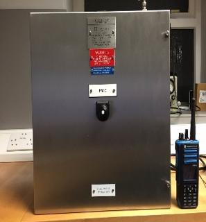 Hazardous area repeater system